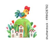 watercolor illustration of a... | Shutterstock . vector #498428782
