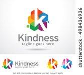 k letter logo template design... | Shutterstock .eps vector #498436936