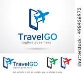 travel go logo template design... | Shutterstock .eps vector #498436972