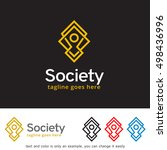 abstract people logo  society ... | Shutterstock .eps vector #498436996