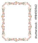rectangular frame of roses | Shutterstock .eps vector #498450562