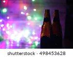 bokeh in nightckub   colorful... | Shutterstock . vector #498453628