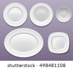 vector set of plates | Shutterstock .eps vector #498481108