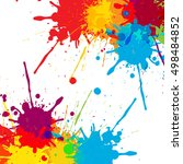 splatter color background... | Shutterstock .eps vector #498484852