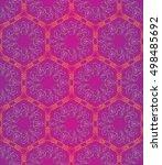 seamless pattern  symmetric ... | Shutterstock .eps vector #498485692