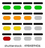 4 step progress indicators | Shutterstock .eps vector #498489406