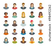 people faces avatars vector... | Shutterstock .eps vector #498492262