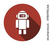 robot    icon   isolated. flat  ... | Shutterstock .eps vector #498498166