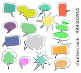 vector set of colorful  comic... | Shutterstock .eps vector #498503902