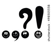 set of funny smiley punctuation | Shutterstock .eps vector #498505558