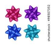 vector set of bright purple... | Shutterstock .eps vector #498507352