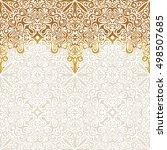 seamless border vector ornate...   Shutterstock .eps vector #498507685