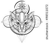 animal head triangular icon  ... | Shutterstock .eps vector #498511072
