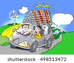 a car that is driven on... | Shutterstock . vector #498513472