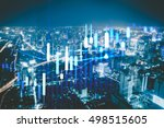 close up of finance business... | Shutterstock . vector #498515605