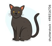 cute grey british cat... | Shutterstock .eps vector #498516706
