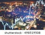 close up of finance business... | Shutterstock . vector #498519508