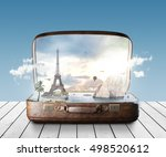 travel bag concept. 3d rendering | Shutterstock . vector #498520612