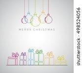 merry christmas minimalistic... | Shutterstock .eps vector #498524056
