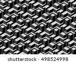 3d pattern design. stylish... | Shutterstock .eps vector #498524998