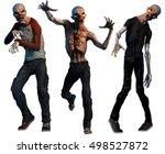 zombies 3d illustration | Shutterstock . vector #498527872