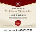 certificate of appreciation... | Shutterstock .eps vector #498536752