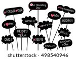 props for photos on weddings... | Shutterstock .eps vector #498540946