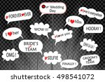 props for photos on weddings... | Shutterstock .eps vector #498541072