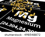 magnesium or mg dietary... | Shutterstock . vector #498548872