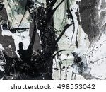 creative abstract hand painted... | Shutterstock . vector #498553042