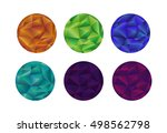 round templates for polygon... | Shutterstock .eps vector #498562798