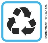recycle blue and gray vector... | Shutterstock .eps vector #498564526