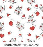 seamless vector pattern. xmas... | Shutterstock .eps vector #498564892