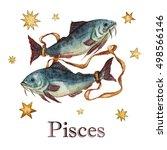 zodiac sign   pisces.... | Shutterstock . vector #498566146