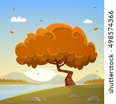 autumn countryside cartoon... | Shutterstock .eps vector #498574366