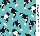 killer whale seamless pattern...