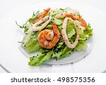 sushi set on a white background.... | Shutterstock . vector #498575356