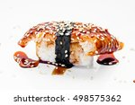 sushi set on a white background.... | Shutterstock . vector #498575362