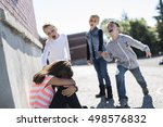 sad moment elementary age... | Shutterstock . vector #498576832