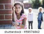 sad moment elementary age... | Shutterstock . vector #498576862
