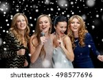 new year party  christmas ... | Shutterstock . vector #498577696