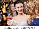 new year party  christmas ... | Shutterstock . vector #498577726