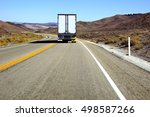 distant truck is only traffic ... | Shutterstock . vector #498587266
