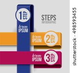 steps options and infographic... | Shutterstock .eps vector #498593455