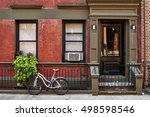 a bicycle in front of a... | Shutterstock . vector #498598546