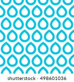 seamless pattern. blue drops on ... | Shutterstock .eps vector #498601036