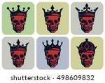 collection of graphical... | Shutterstock .eps vector #498609832