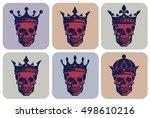 set of graphical illustrations... | Shutterstock .eps vector #498610216
