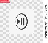 pause button vector icon | Shutterstock .eps vector #498619498