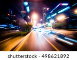 Blurred Traffic Light Trails O...